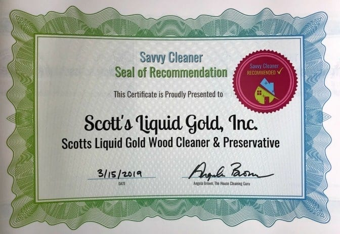 Scott's Liquid Gold ,Angela Brown's Top 10 Furniture Polish, Savvy Cleaner Recommended