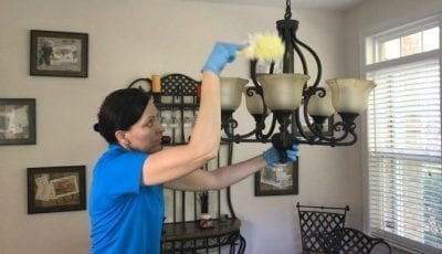 Swiffer Duster 360 Product Review Dusting Lights