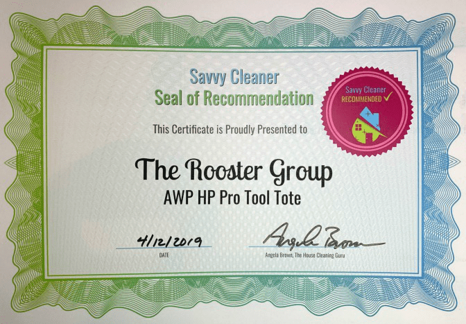 The Rooster Group AWP HP Pro Tool Tote, Savvy Cleaner Recommended, Cleaning Caddies