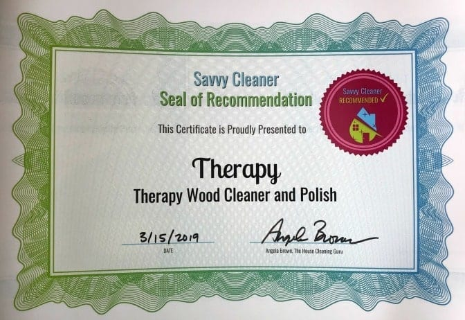 Therapy Wood Cleaner and Polish, Angela Brown's Top 10 Furniture Polish, Savvy Cleaner RecommendedTherapy Wood Cleaner and Polish, Angela Brown's Top 10 Furniture Polish, Savvy Cleaner Recommended