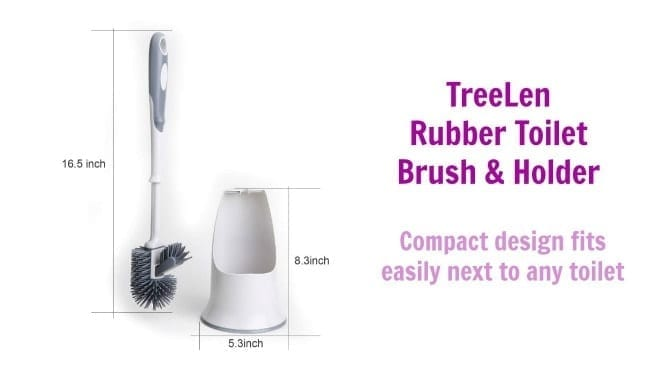 TreeLen Rubber Toilet Brush, Compact Design, Angela Brown's Top 10 Toilet Brushes