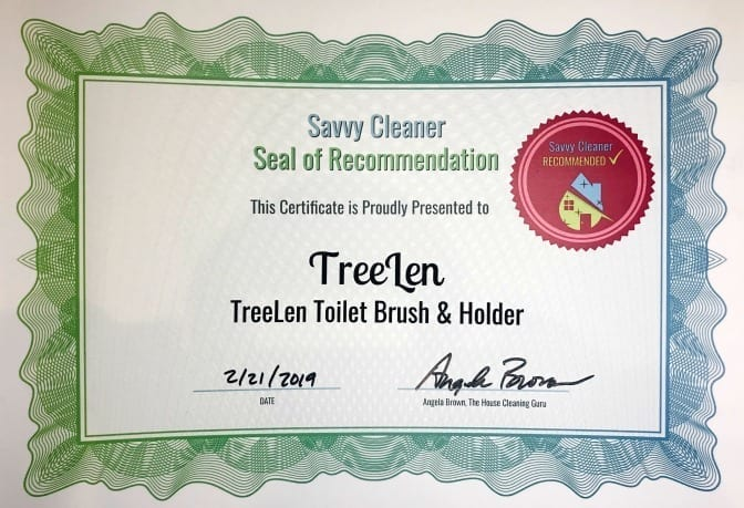 TreeLen Toilet Brush and Holder, Savvy Cleaner Recommended