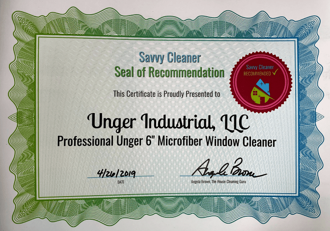 Unger Insustrial LLC Professional Unger 6 Microfiber Window Cleaner, Savvy Cleaner Recommended
