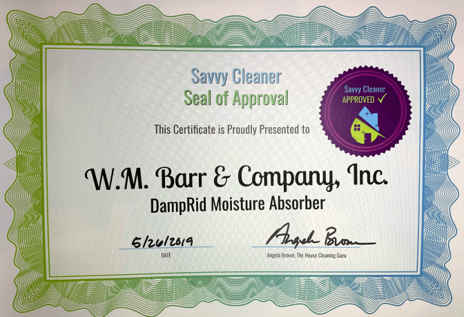 WM Barr and Company, Inc. DampRid Moisture Absorber, Savvy Cleaner Approved