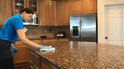 Weiman, Cleaning Kitchen Island