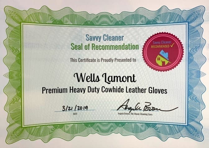 Wells Lamont Premium Heavy Duty Cowhide Leather Gloves, Savvy Cleaner Recommended
